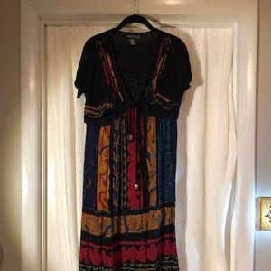 Carol Little Petite Maxi Dress Multi-Color
